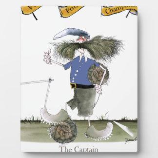 Plaque Photo bleus de capitaine d'équipe de football