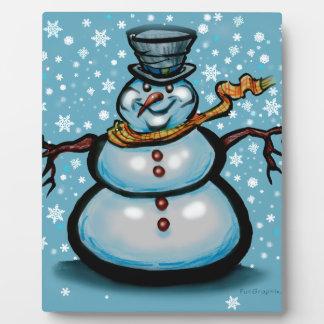 Plaque Photo Bonhomme de neige