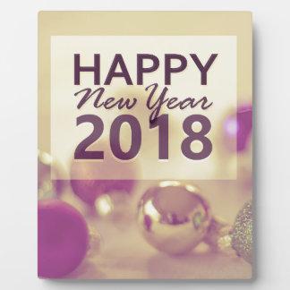 Plaque Photo bonne année 2018