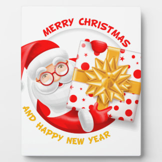 Plaque Photo Bonne année du père noël