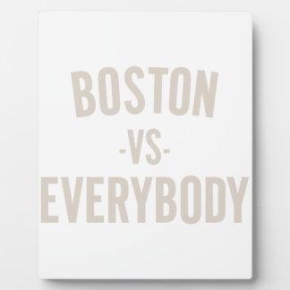 Plaque Photo Boston contre tout le monde