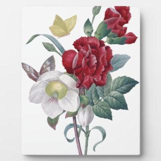 Plaque Photo bouquet d'anémone et d'oeillets