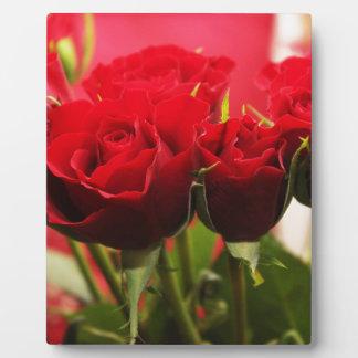 Plaque Photo Bouquet des fleurs de jour de Valentines de roses