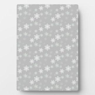 Plaque Photo Bourrasques de neige blanches argentées de Noël
