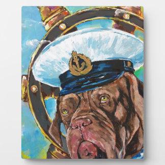 Plaque Photo Cadeau de //du chien du marin de //de l'année du