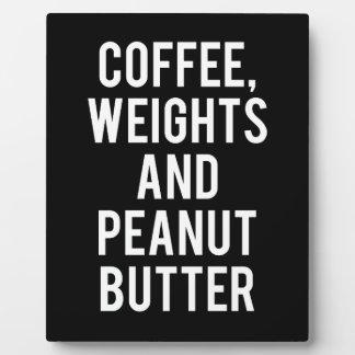 Plaque Photo Café, poids et beurre d'arachide - nouveauté drôle