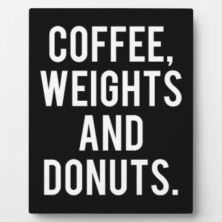 Plaque Photo Café, poids et butées toriques - gymnase drôle de