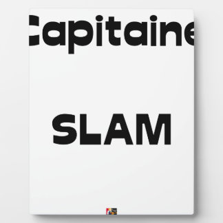 Plaque Photo Capitaine SLAM - Jeux de Mots - Francois Ville