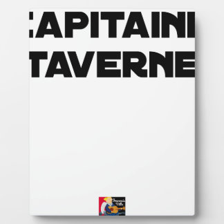 Plaque Photo CAPITAINE TAVERNE - Jeux de mots - Francois Ville