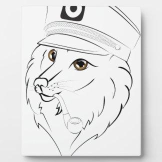 Plaque Photo Capitaine Wolf Illustration