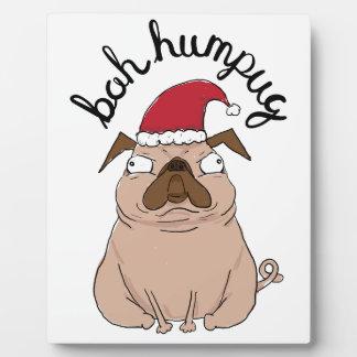 Plaque Photo Carlin de Père Noël de Noël de Bah Humpug