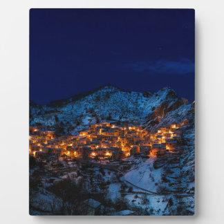 Plaque Photo Castelmezzano Italie la nuit