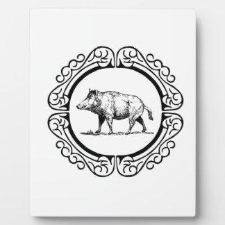 Plaque Photo cercle de marche de porc