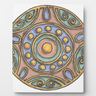Plaque Photo Cercles (en pastel)