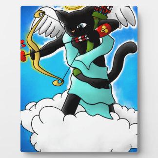 Plaque Photo Chat de cupidon de noir de charbon de