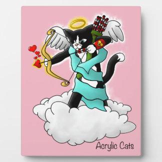 Plaque Photo Chat de cupidon de smoking de Saint-Valentin