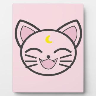 Plaque Photo chat de lune