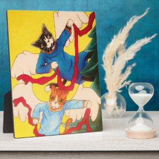 Plaque Photo Chats d'ange d'ange de Noël