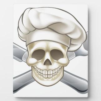 Plaque Photo Chef de couteau et de pirate de fourchette