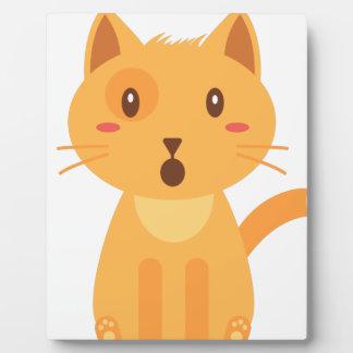 Plaque Photo Chemise de visage d'expressions de chat de Kitty