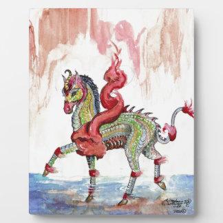 Plaque Photo Cheval de fée de licorne de dragon de Kir'rin