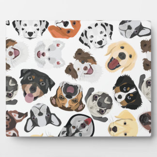 Plaque Photo Chiens de motif d'illustration