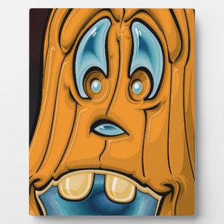 Plaque Photo Citrouille souriant pour l'amusement de Halloween