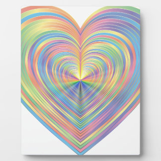 Plaque Photo Coeur en pastel