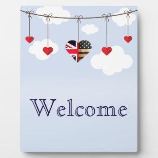 Plaque Photo Coeurs américains britanniques d'amour