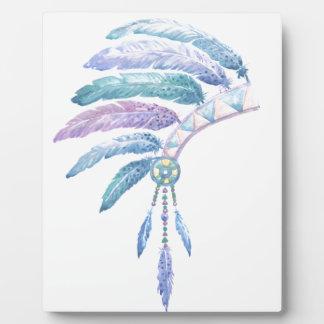 Plaque Photo Coiffe indienne dans la couleur pour aquarelle
