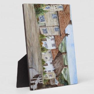 Plaque Photo Colline d'or, Shaftesbury, peinture d'aquarelle de