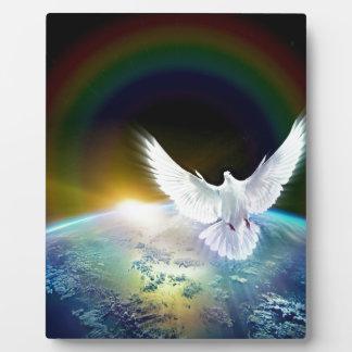 Plaque Photo Colombe de Saint-Esprit de paix au-dessus de la