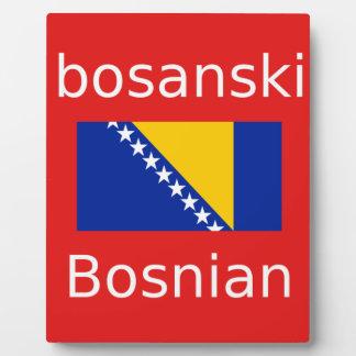 Plaque Photo Conception bosnienne de langue