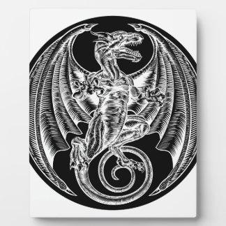 Plaque Photo Conception de cercle de dragon