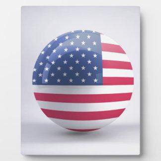 Plaque Photo conception de cercle d'Etats-Unis-drapeau