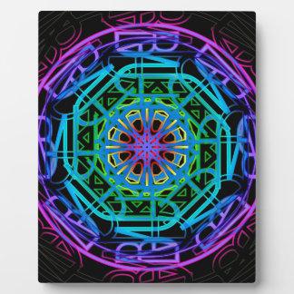 Plaque Photo Conception de mandala de lampes au néon