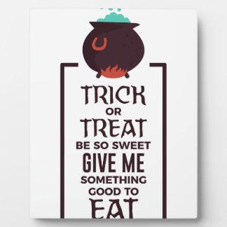 Plaque Photo Conception douce de Halloween de sucrerie de des