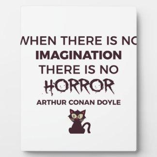 Plaque Photo Conception effrayante effrayante de Halloween