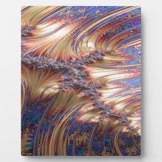 Plaque Photo Conception réfléchie à trois voies de fractale de