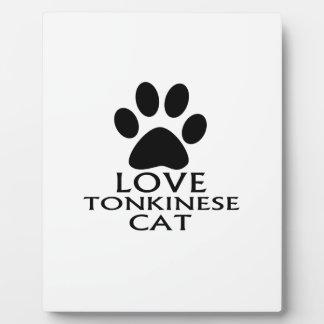 PLAQUE PHOTO CONCEPTIONS DE CAT DE L'AMOUR TONKINESE