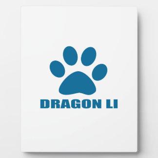 PLAQUE PHOTO CONCEPTIONS DE CAT DE LI DE DRAGON