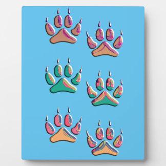 Plaque Photo Copie colorée de loup