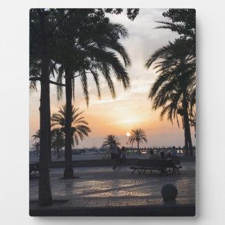 Plaque Photo Coucher du soleil