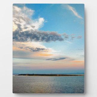 Plaque Photo Coucher du soleil au-dessus de l'île