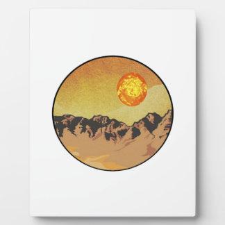 Plaque Photo Coucher du soleil de montagne