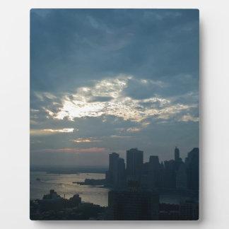Plaque Photo Coucher du soleil Manhattan1