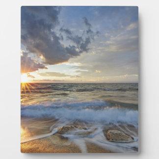 Plaque Photo Coucher du soleil stupéfiant