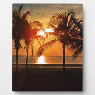 Plaque Photo Coucher du soleil tropical