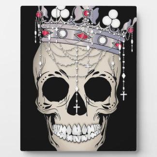 Plaque Photo Couronne d'horreur de Halloween de cadre d'os de