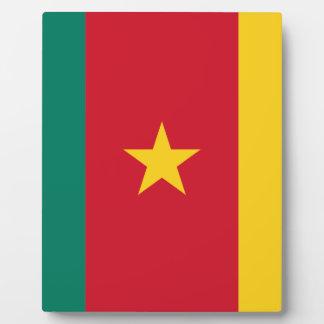 Plaque Photo Coût bas ! Drapeau du Cameroun